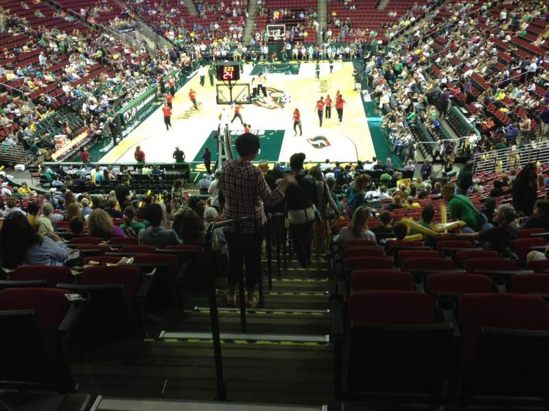 Seating view for KeyArena Section 122 Row 22 Seat 21