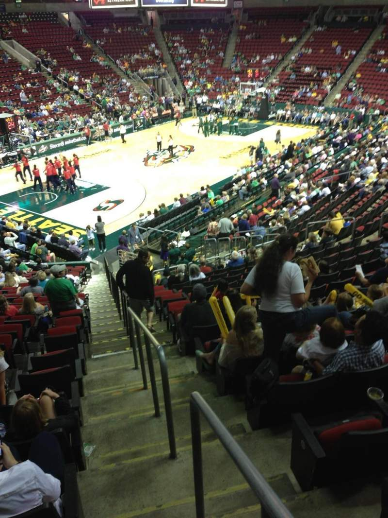 Seating view for KeyArena Section 125 Row 22 Seat 21