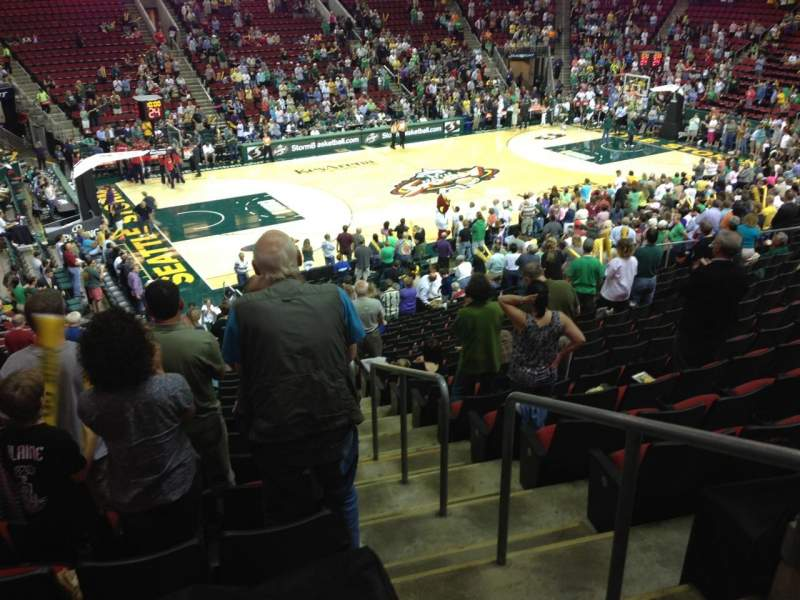 Seating view for KeyArena Section 127 Row 22 Seat 21