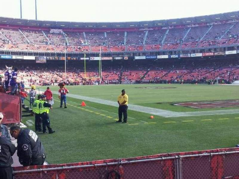 Seating view for Candlestick Park Section LR 44 Row 2