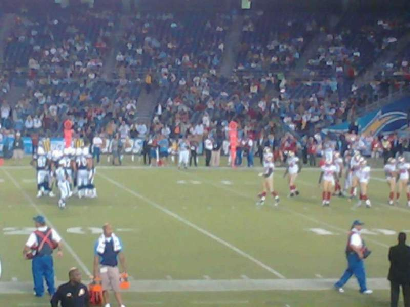 Seating view for Qualcomm Stadium Section F8 Row 17 Seat 8