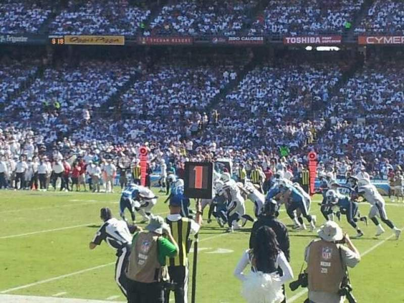 Seating view for Qualcomm Stadium Section LF 11 Row 4 Seat 2