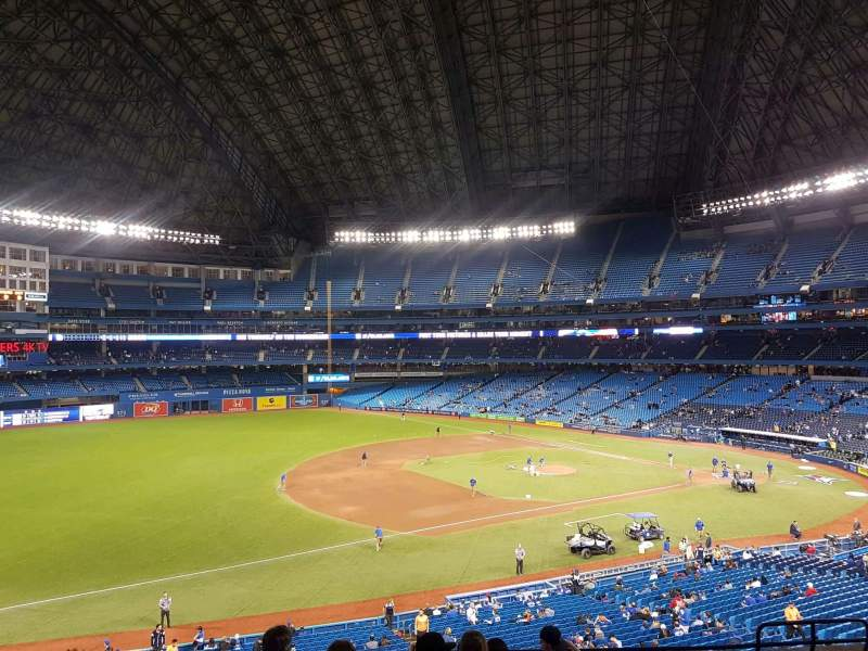 Seating view for Rogers Centre Section 233L Row 9 Seat 108