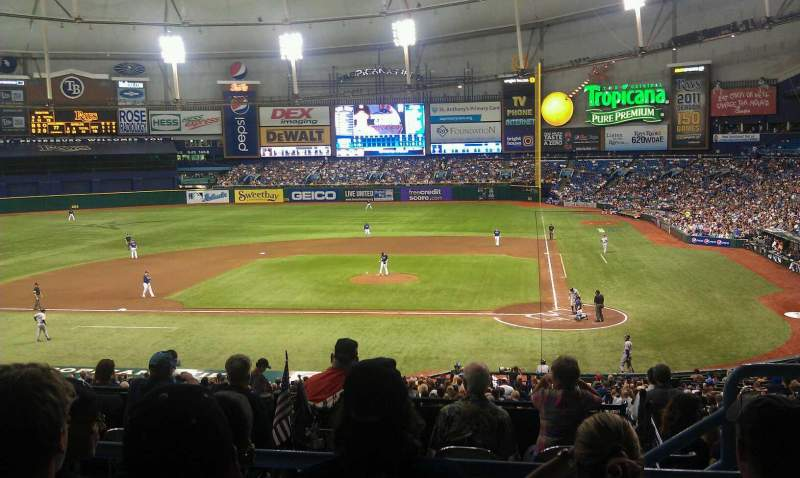 Seating view for Tropicana Field Section 109 Row SS Seat 9