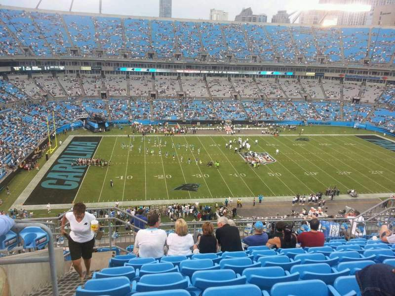 Seating view for Bank of America Stadium Section 544 Row 7 Seat 17