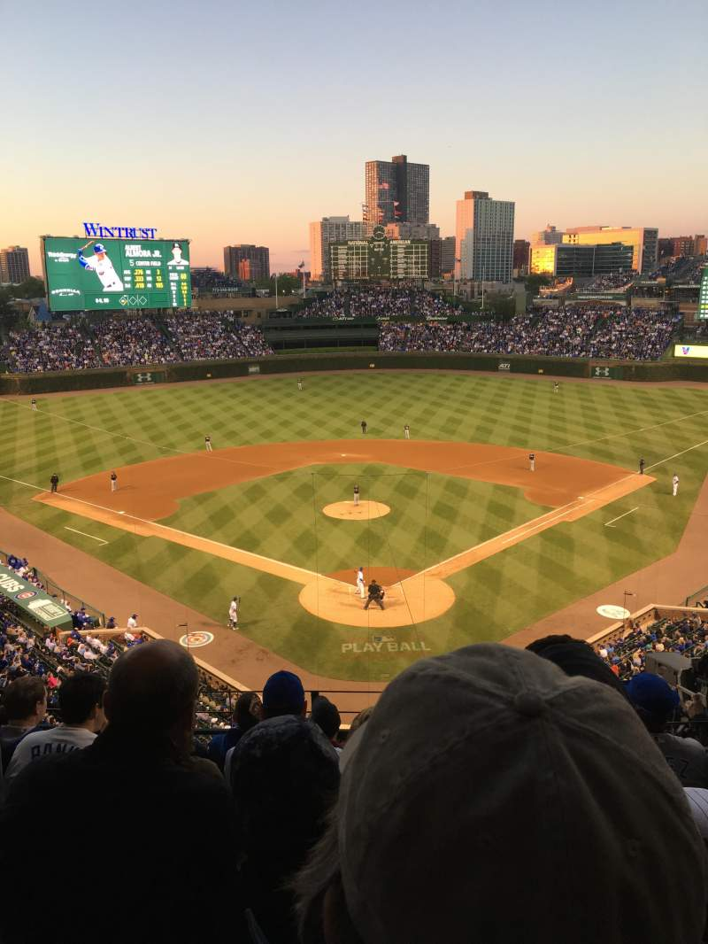 Seating view for Wrigley Field Section 317R Row 7 Seat 7