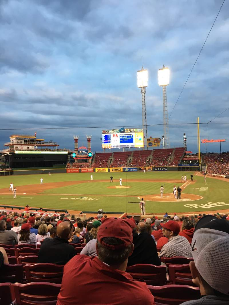 Seating view for Great American Ball Park Section 120 Row CC Seat 7