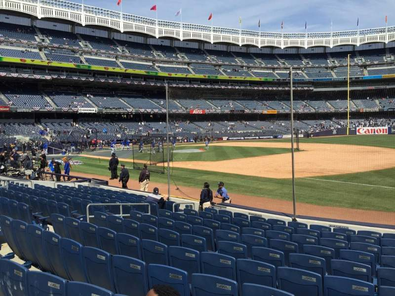 Seating view for Yankee Stadium Section 113 Row 12 Seat 13