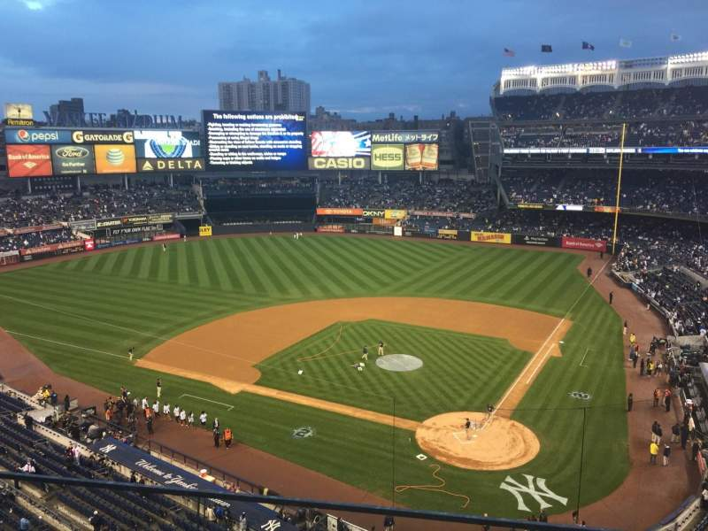 Seating view for Yankee Stadium Section 320C Row 1