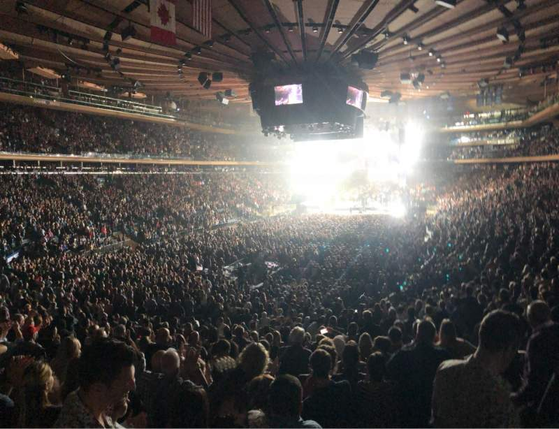 Seating view for Madison Square Garden Section 103 Row 20 Seat 20