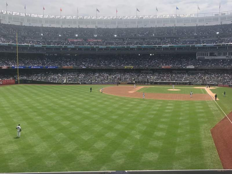 Seating view for Yankee Stadium Section 233b Row 3 Seat 9