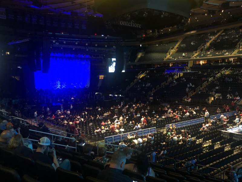 Seating view for Madison Square Garden Section 119 Row 14 Seat 13