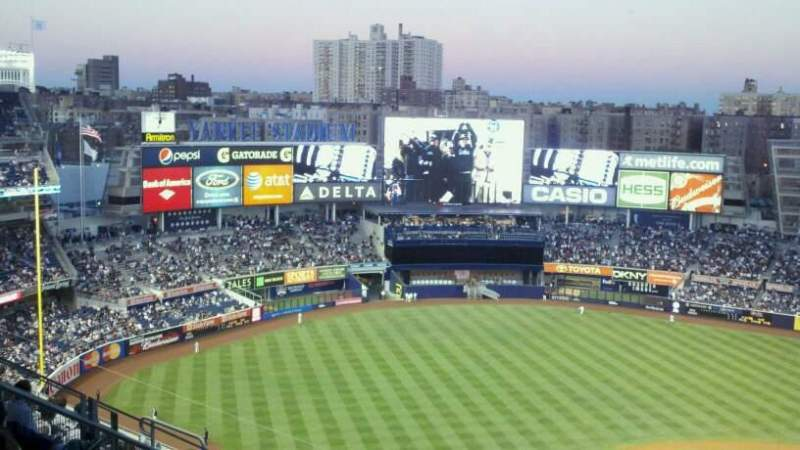 Seating view for Yankee Stadium Section 326 Row 2 Seat 20