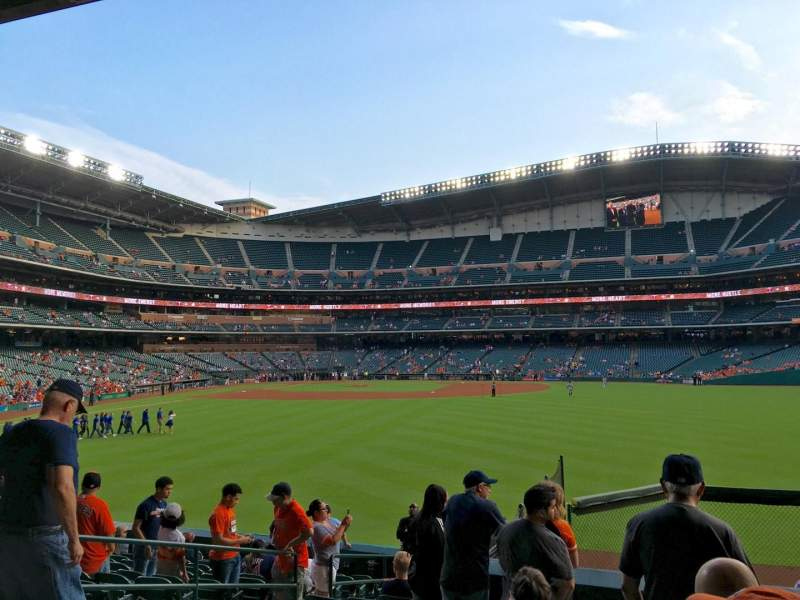 Seating view for Minute Maid Park Section 155 Row 14 Seat 7