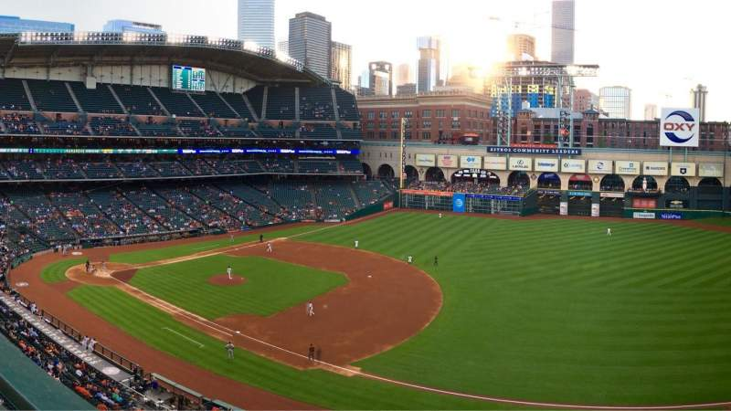 Seating view for Minute Maid Park Section 329 Row 1 Seat 7