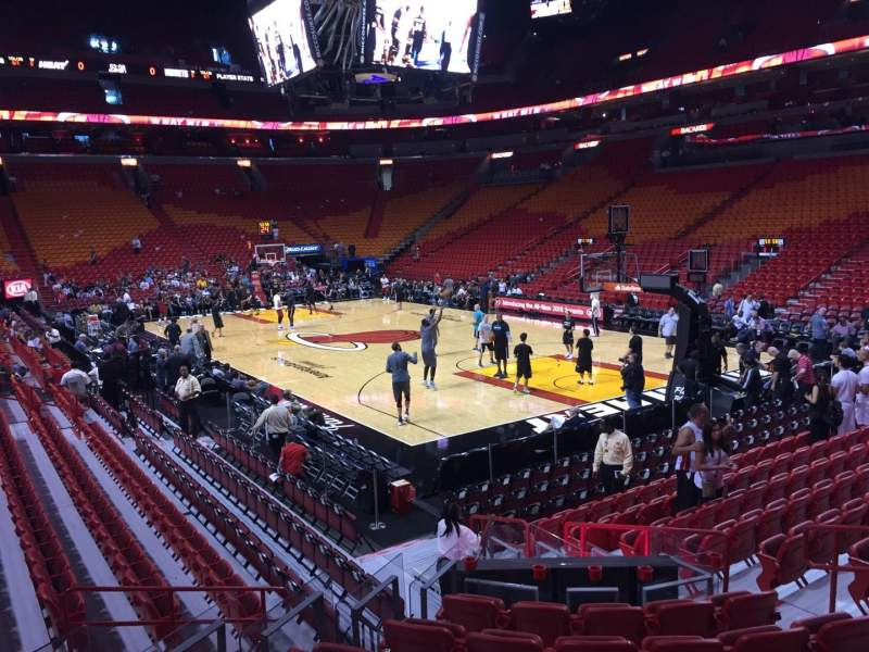Seating view for American Airlines Arena Section 103 Row 16 Seat 01