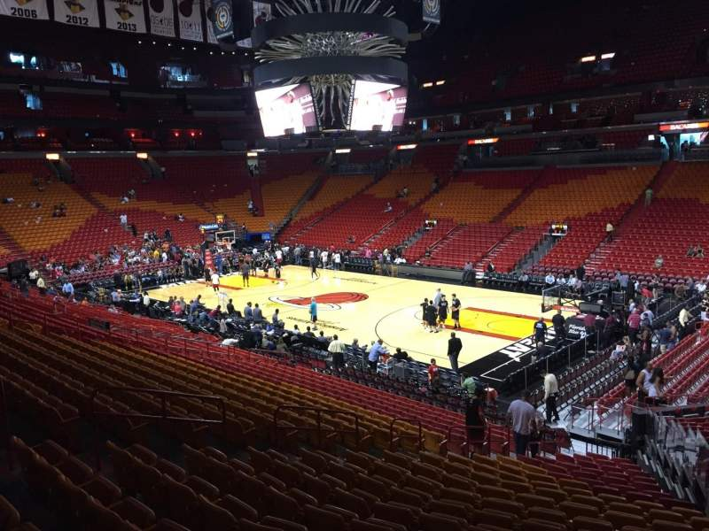 Seating view for American Airlines Arena Section 104 Row 23 Seat 03