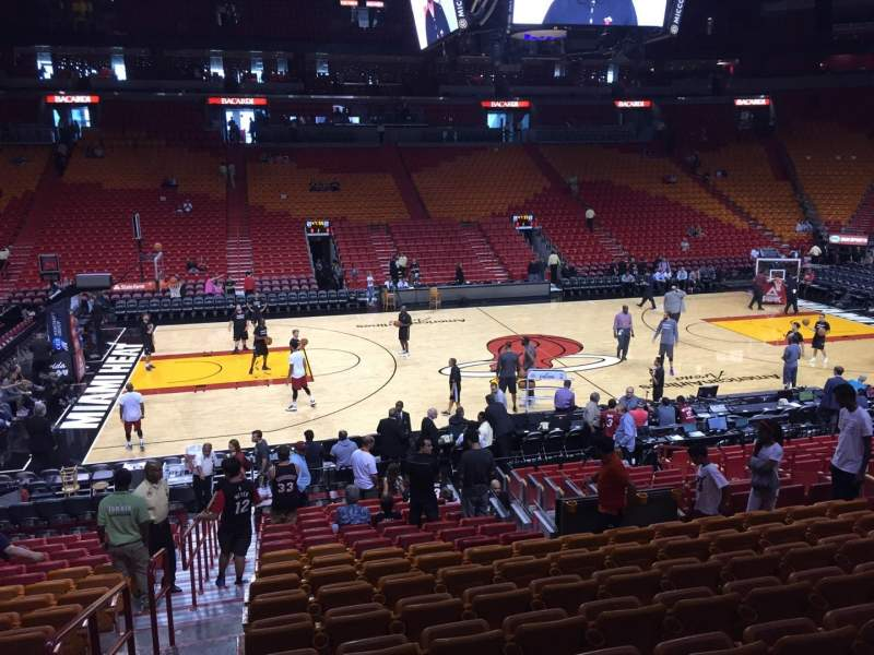 Seating view for American Airlines Arena Section 107 Row 19 Seat 20