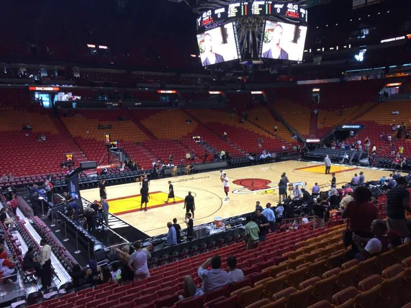 American Airlines Arena section 109 row 17 seat 01 - Miami ...