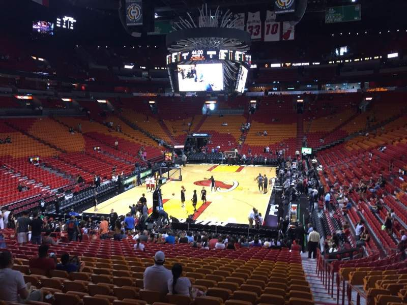 american airlines arena section 112 row 27 seat 01 - miami