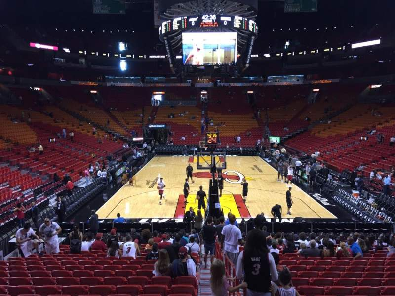 Seating view for American Airlines Arena Section 113 Row 21 Seat 01