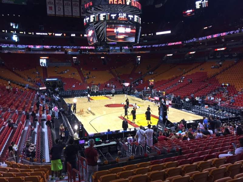 Seating view for American Airlines Arena Section 114 Row 21 Seat 01