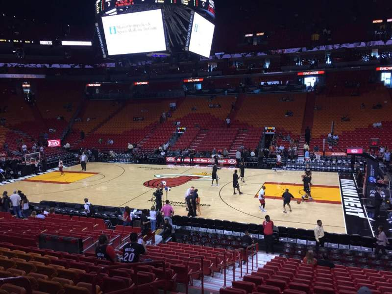 Seating view for American Airlines Arena Section 117 Row 19 Seat 17