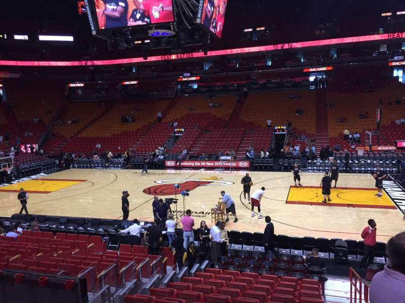 Seating view for American Airlines Arena Section 118 Row 15 Seat 01