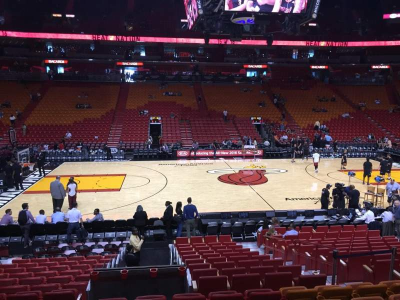 Seating view for American Airlines Arena Section 119 Row 16 Seat 12