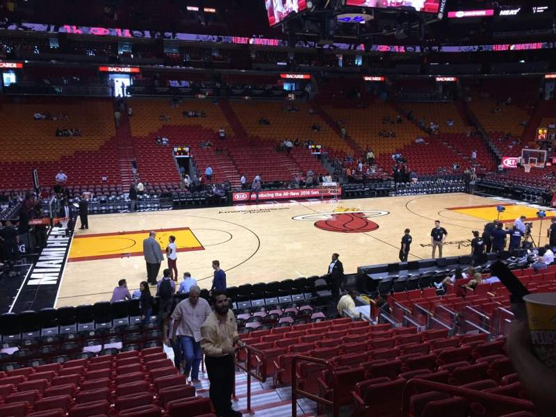 Seating view for American Airlines Arena Section 120 Row 16 Seat 02