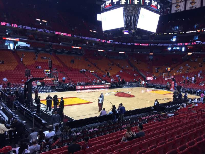 Seating view for American Airlines Arena Section 121 Row 14 Seat 01