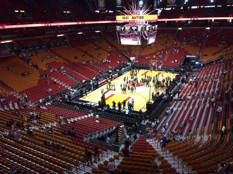 Seating view for American Airlines Arena Section 330 Row 1 Seat 13