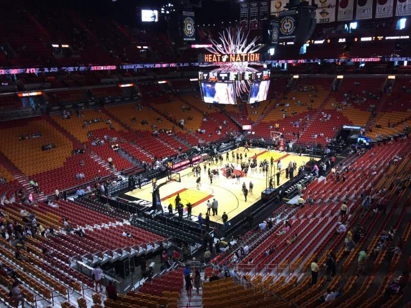 Seating view for American Airlines Arena Section 329 Row 1 Seat 13