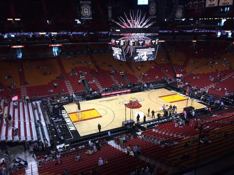 Seating view for American Airlines Arena Section 326 Row 02 Seat 19