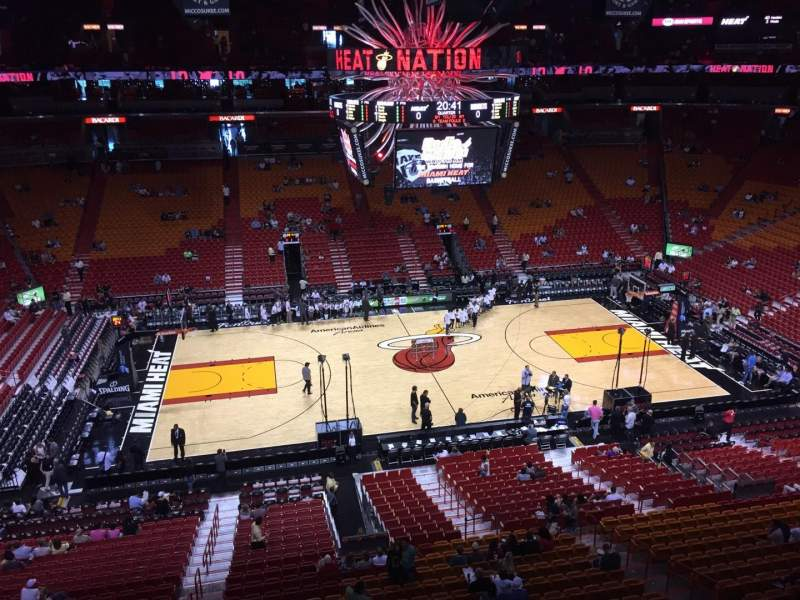 Seating view for American Airlines Arena Section 325 Row 01 Seat 13