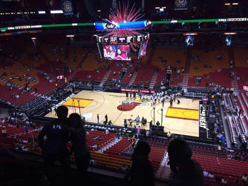 Seating view for American Airlines Arena Section 323 Row 04 Seat 12