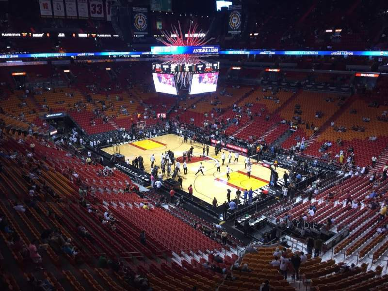 Seating view for American Airlines Arena Section 320 Row 2 Seat 14