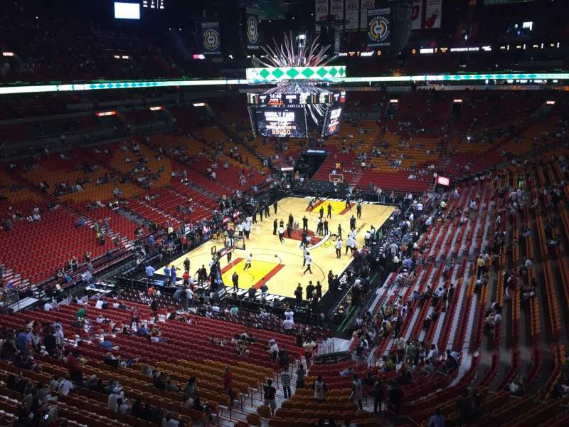 Seating view for American Airlines Arena Section 314 Row 13 Seat 1
