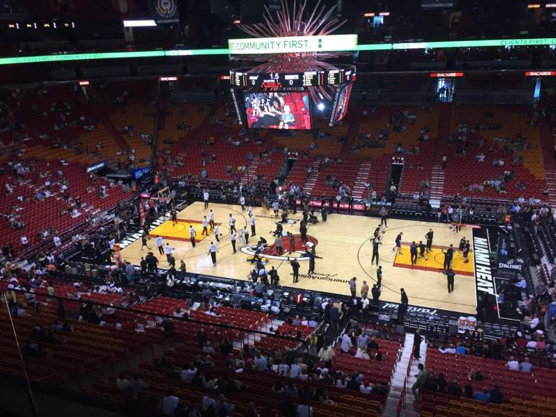 Seating view for American Airlines Arena Section 307 Row 2 Seat 15