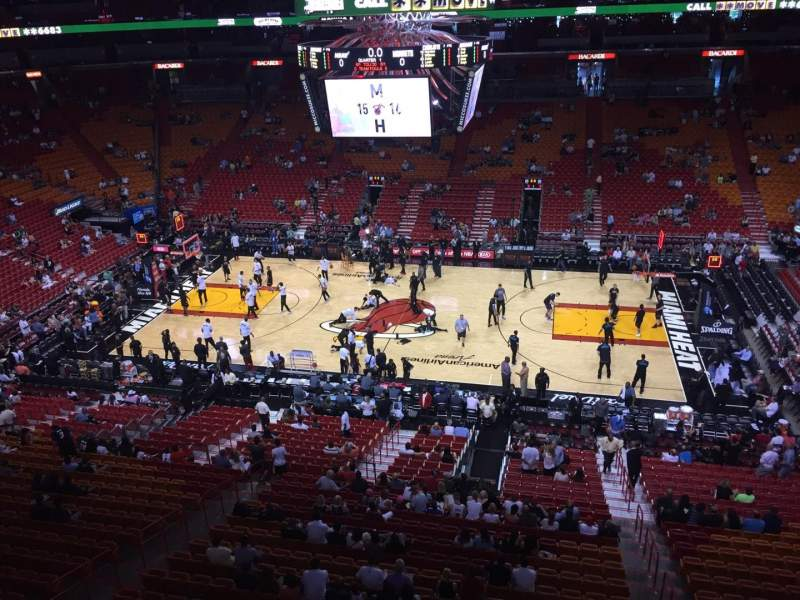 American Airlines Arena Section 308 Row 1 Seat 4