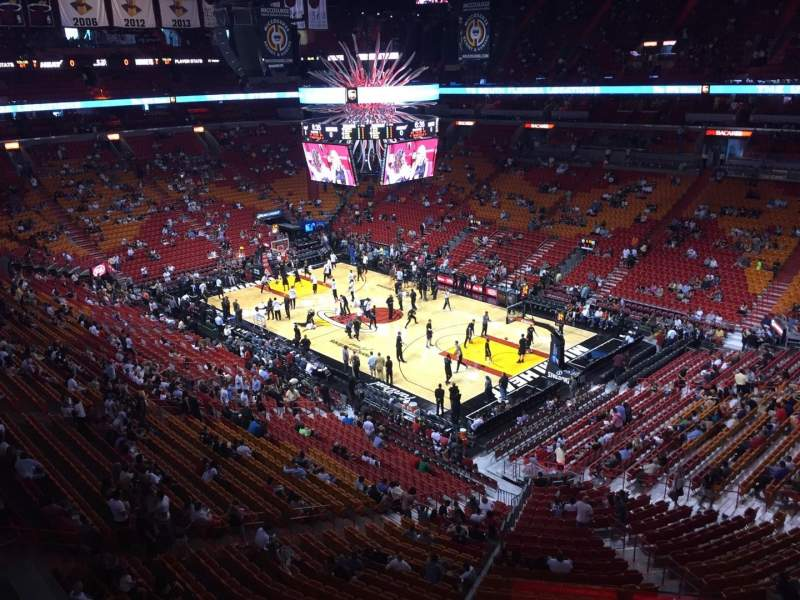 Seating view for American Airlines Arena Section 305 Row 03 Seat 01