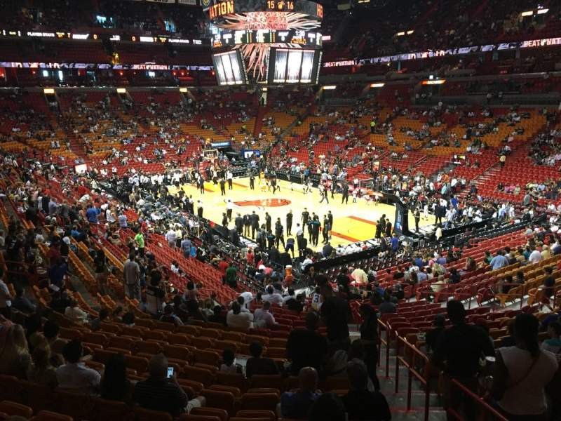 Seating view for American Airlines Arena Section 103 Row 30 Seat 01