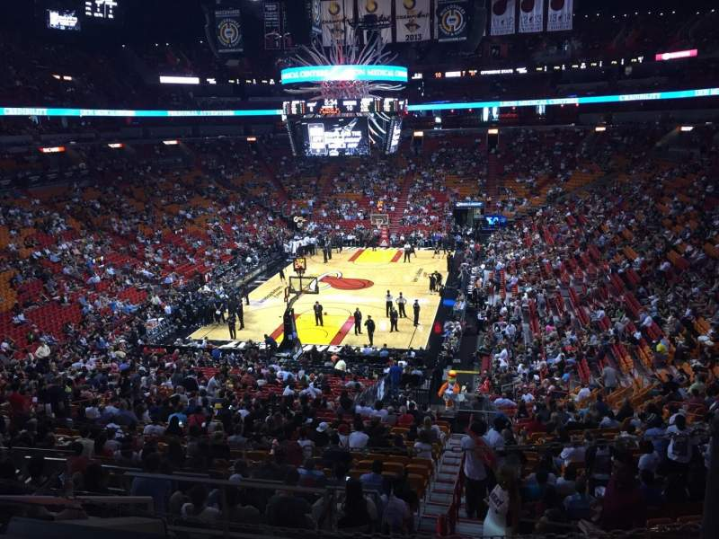 Seating view for American Airlines Arena Section 124 Row 37 Seat 01