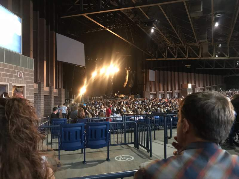 Seating view for Sunlight Supply Amphitheater Section 207 Row B