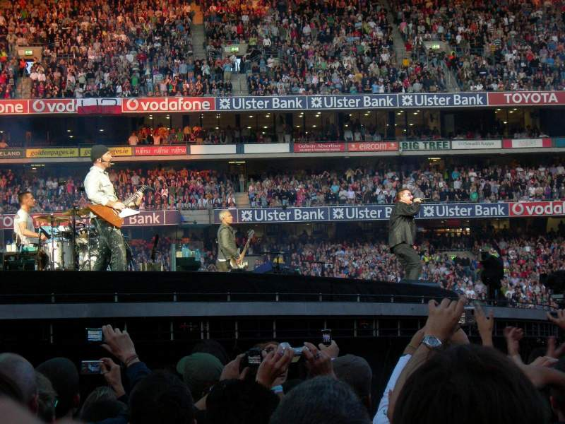 Seating view for Croke Park Section Field Row Red Zone