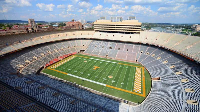 Seating view for Neyland Stadium Section Roof