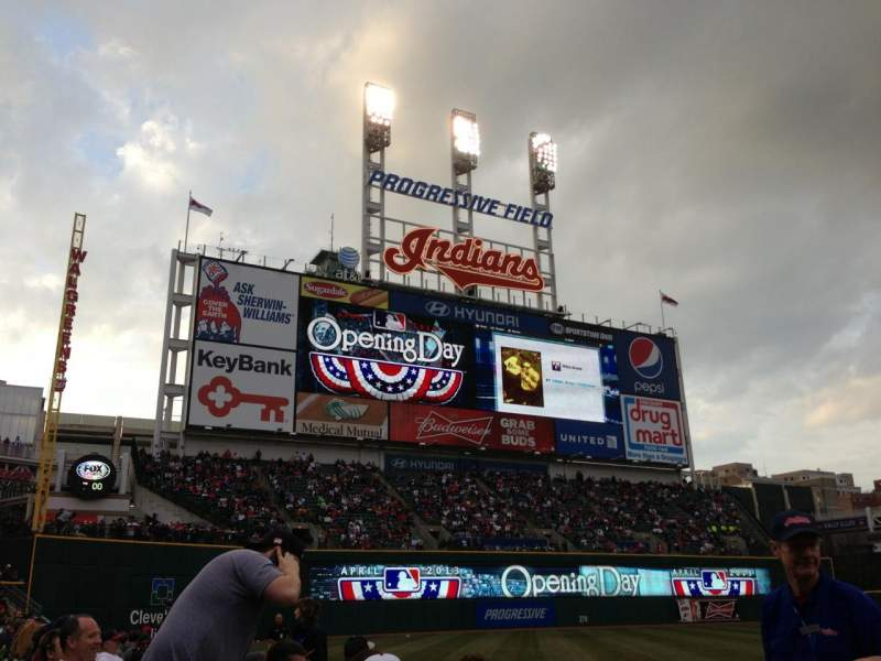 Seating view for Progressive Field Section 167 Row D Seat 6