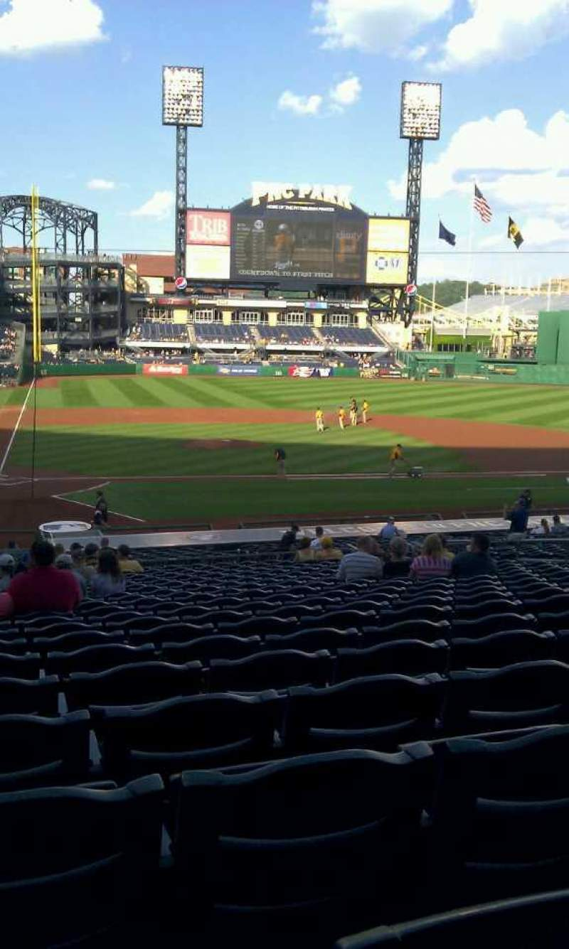 Seating view for PNC Park Section 113 Row w Seat 15, 16