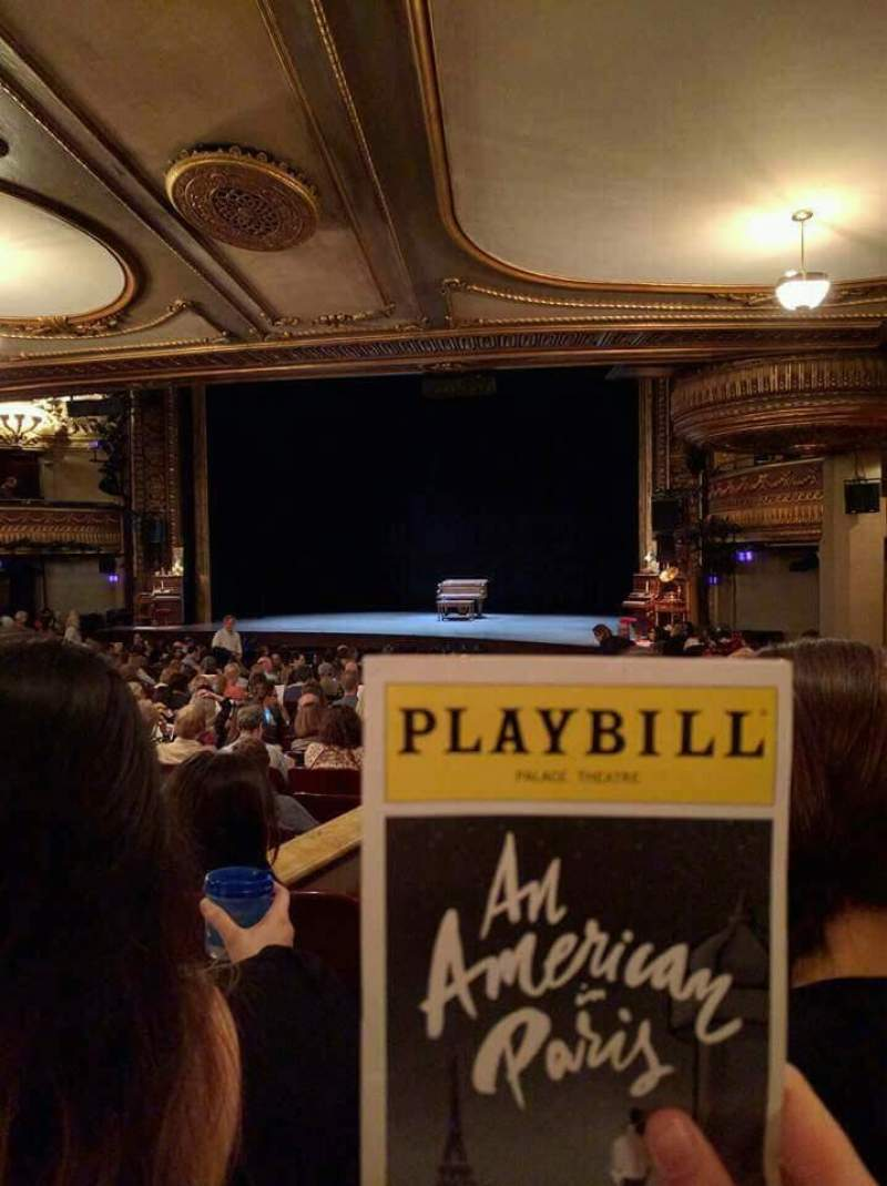 Seating view for Palace Theatre (Broadway) Section Orchestra Right Row S Seat 6