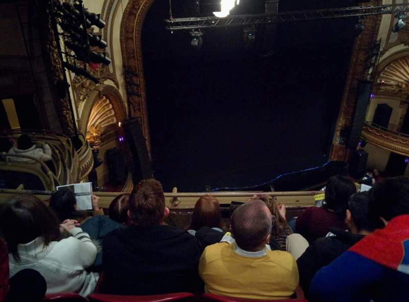 Seating view for Palace Theatre (Broadway) Section Balcony Left Row D Seat 19